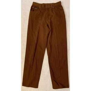 Ralph Lauren Womens Straight Leg Pants 12 Brown